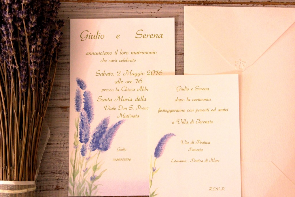 Scent of Provence - Partecipazione Acquerellata